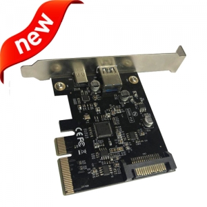 USB3.1 10Gbps 2 USB-A + Type-C  Pci-E controller expansion card