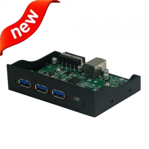 USB3.1 3 x Type-A +  1 x Type C  Hub for Front panel of case